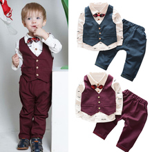 Children clothing sets Spring toddler boys clothes Coat+T Shirt+Pants boutique kids dresses for boys outfits wedding formal suit недорого