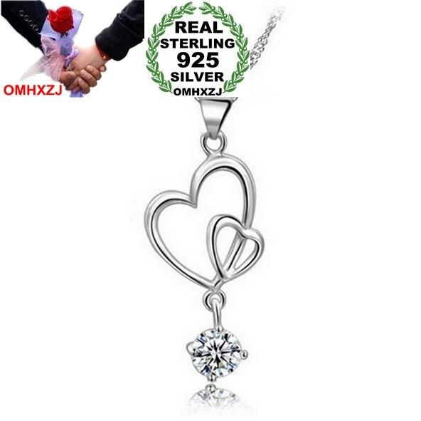 Omhxzj оптовая сердце женщина Paw установка поп-звезда Мода AAA Циркон 925 серебро не цепь Цепочки и ожерелья подвеска Подвески PE19