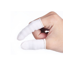 Tattoo Fingertips Latex Gloves Anti-Static Disposable 100Pcs Protective Covers Permanent Makeup Kit Tattoo Supply Nail Art Cots цена