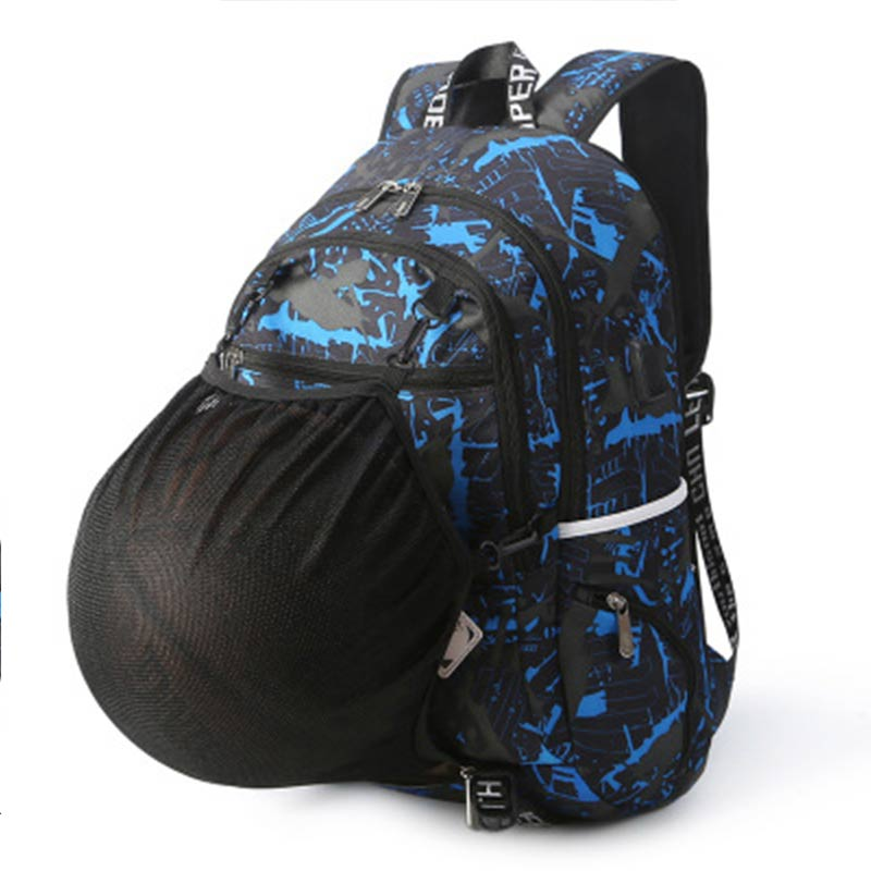 2018 New Men Camouflage Bakcpack Student With Ball Net Pocket Outdoors USB Charge Bag Men Traveling School Zipper Backpack ...