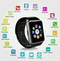 Sim Smart Watch плагин TF Карта Камеры Сенсорный Экран Телефона Шагомер Фитнес-Сообщение Напомнить носимых Smartwatch для iPhone для Anroid