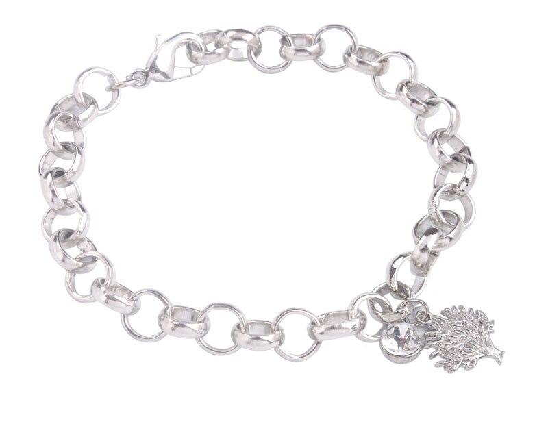 9ed88199d678 6 unids color plata del encanto del metal del tono pulsera de cadena
