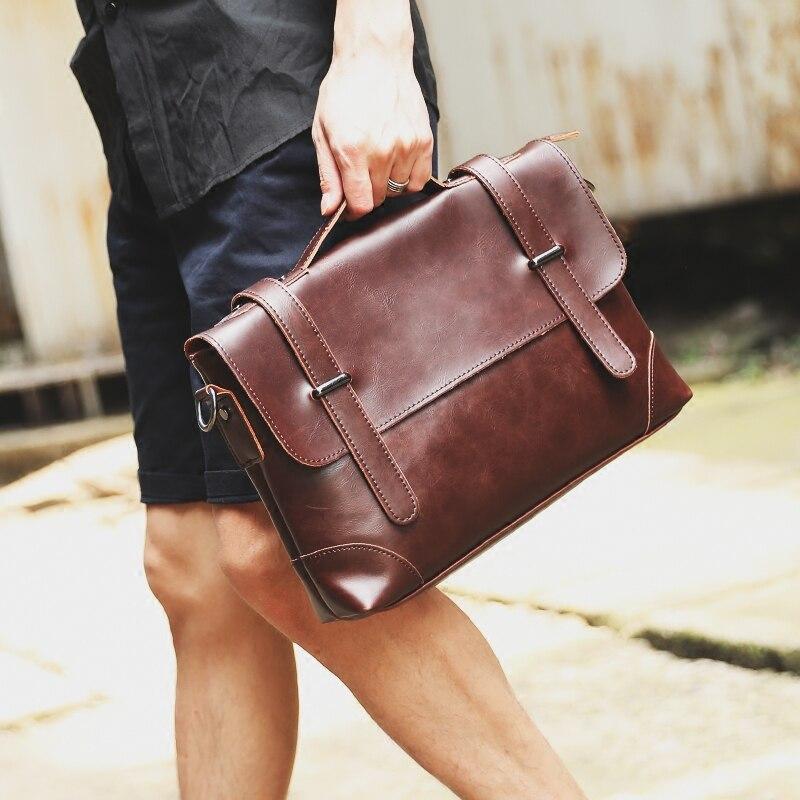 GUMST Crazy Horse Leather Men's Briefcase Messenger Bag for Gentlemen Document case Portfolio Office Bag 3