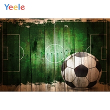 Yeele Wooden Board Football Graffiti Green Birthday Photography Backgrounds Customized Photographic Backdrops for Photo Studio