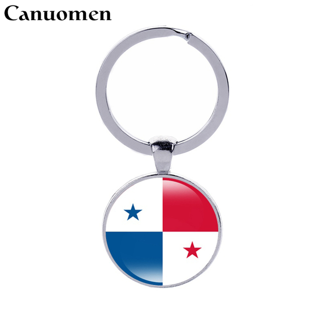 Canuomen Panama Bendera Kosta Rika Keychain Belize Guatemala Bendera Honduras El Salvador Keyrings I Cinta Kampung Pria Wanita Perhiasan