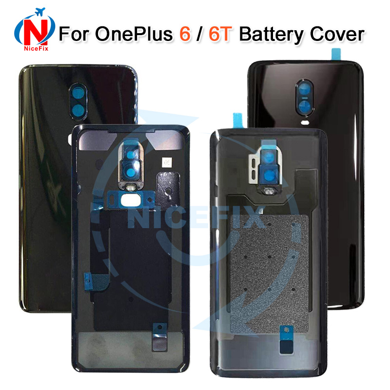For Oneplus 6 Battery Door Case Back Cover Rear Phone Housing For One Plus 1+ 6t Replacement Parts For Oneplus 6t battery door