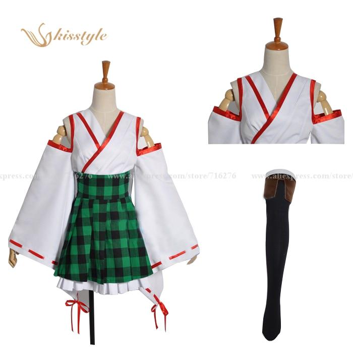все цены на Kisstyle Fashion Anime Kantai Collection Kancolle Fleet Girls King Cruiser Hiei Cosplay Costume,Customized Accepted онлайн