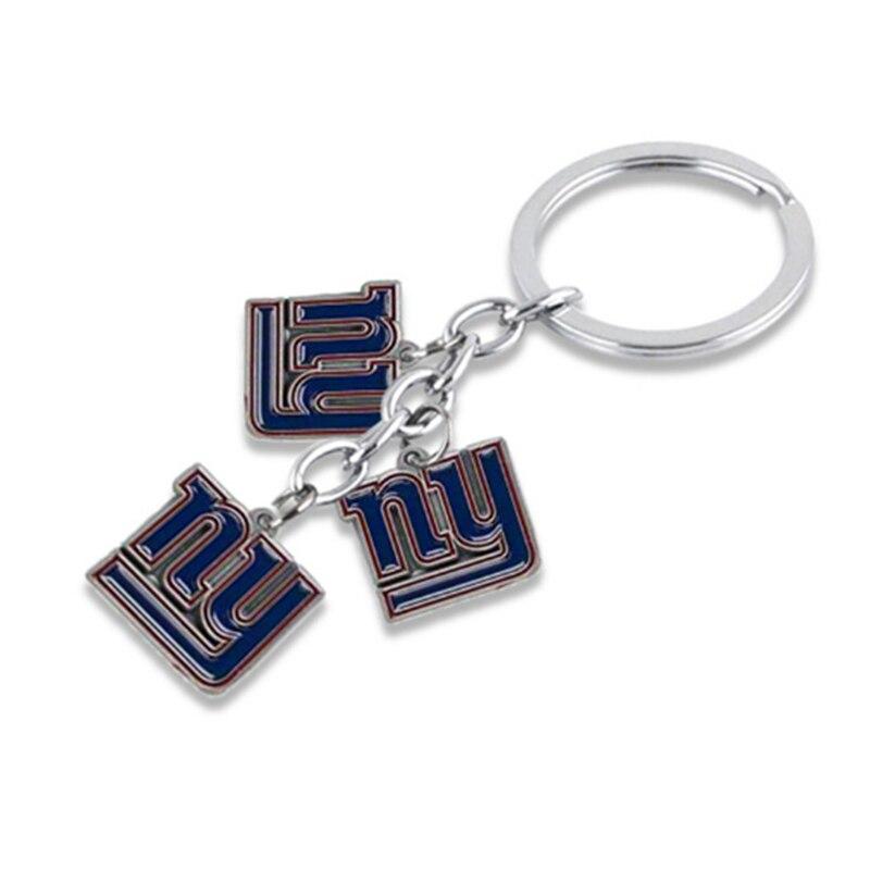 1 предмет сплав Американский футбол команды NY Giants сумки Талисманы Ключи цепи панк Для мужчин ювелирные изделия