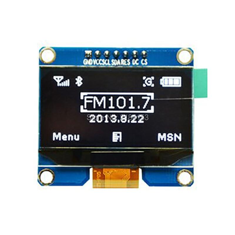 En gros 10 pièces 1.54 pouces 7PIN Blanc OLED Écran Module SSD1309 Lecteur IC Compatible pour SSD1306 IIC/SPI Interface 128*64