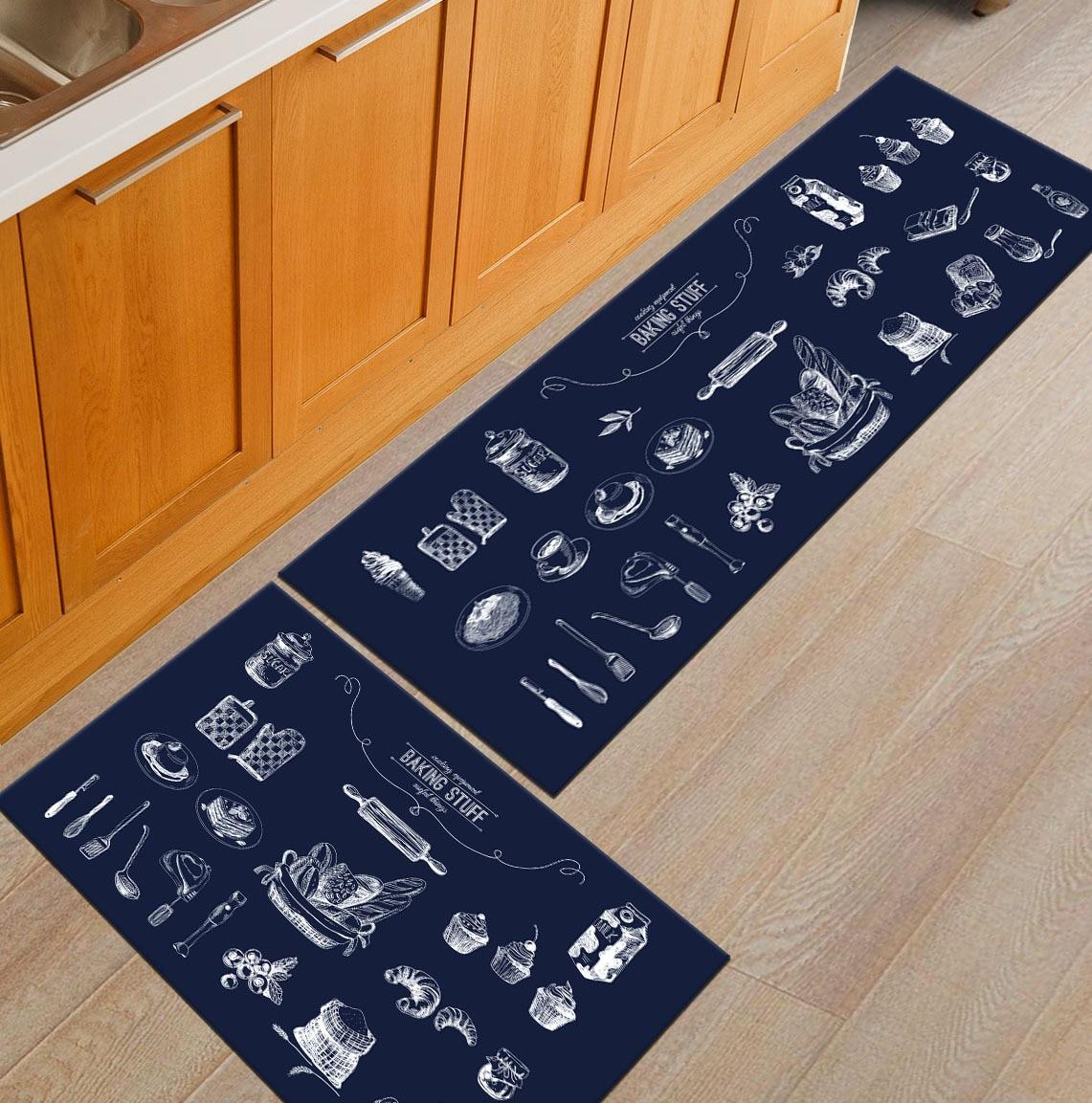 Современный геометрический Коврик для кухни, Противоскользящий коврик для ванной комнаты, домашний Коврик для прихожей/прихожей, коврик для шкафа/балкона, креативный ковер - Цвет: 11