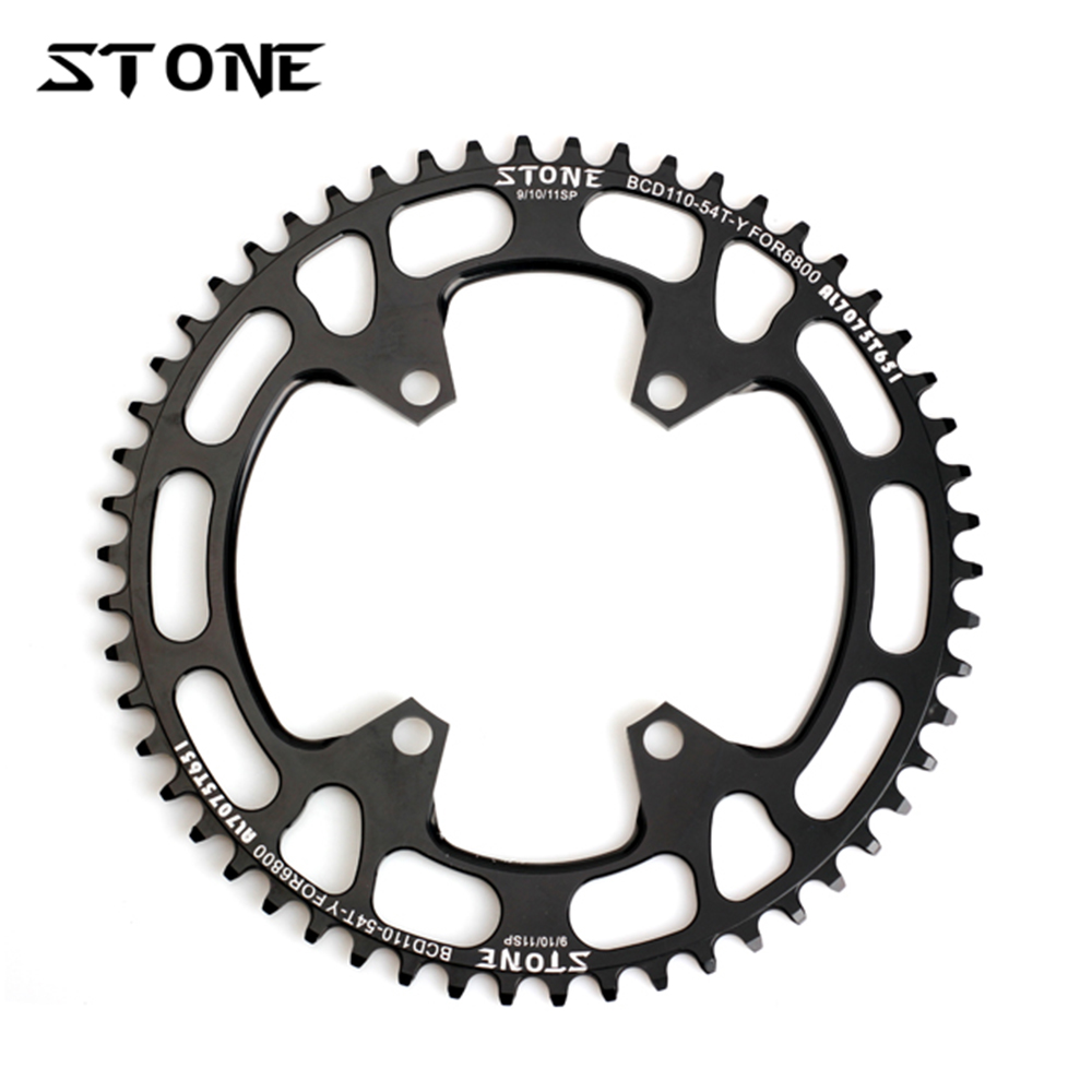 Stone Circle Single Chainring BCD 110mm BCD110 For Road Bike Folding Bike 105 5800 6800 Ultegra 4700 Tigra 9000 Chainwheel