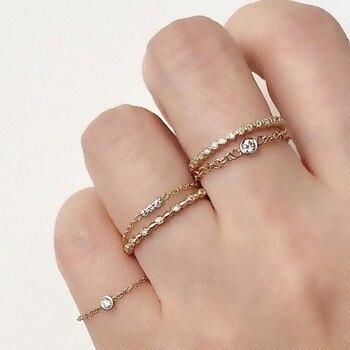 a9ac75734e27 925 joyas de plata esterlina al por mayor de la fábrica delicado tres  piedra bar pequeño 5mm bar pequeño bar flaco de plata de cadena de midi  anillo