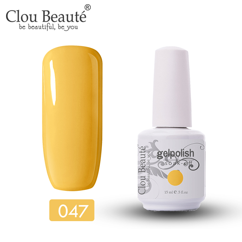 Clou Beaute 15ml Gel Nail Polish 47 Colors LED UV Nail Gel