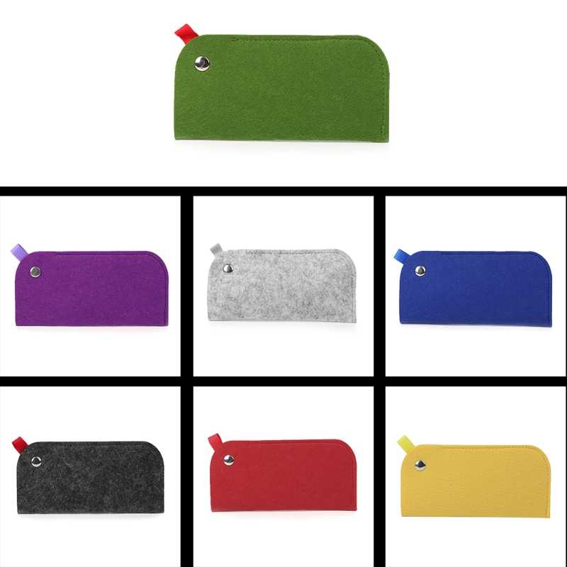 Glasses Bag Chemical Fiber Felt Soft Brief Pouch Sleeves Sunglasses Reading Case
