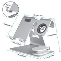 cell phone HobbyLane 2 in 1 Cell Phone Watch Stand Holder For Nintend Switch iPhone iWatch (38 mm & 4 mm) For iPad Tablet(4-13 inch) d20 (1)