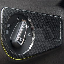 For Volkswagen VW Tiguan Second Generation 2017 2018ABS Matte Inner Head Lamp Light Switch Cover Headligt Control Frame Trim