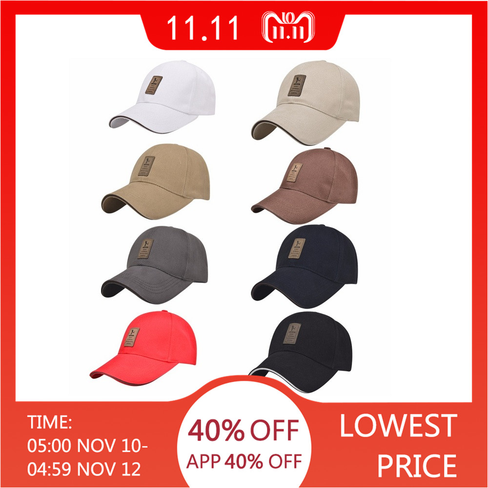 1Piece Baseball Cap Men s Adjustable Cap Casual leisure hats Solid Color  Fashion Snapback Summer Fall hat High quality caps cd0bd60ced0