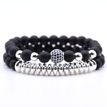 2PCS/Set Hematite Natural Stone Bracelet5