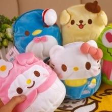 New Sanrio Melody Rabbit Frog Keroppi Pudding Dog Hello Kitty Plush doll Coin bag Keychain Toys