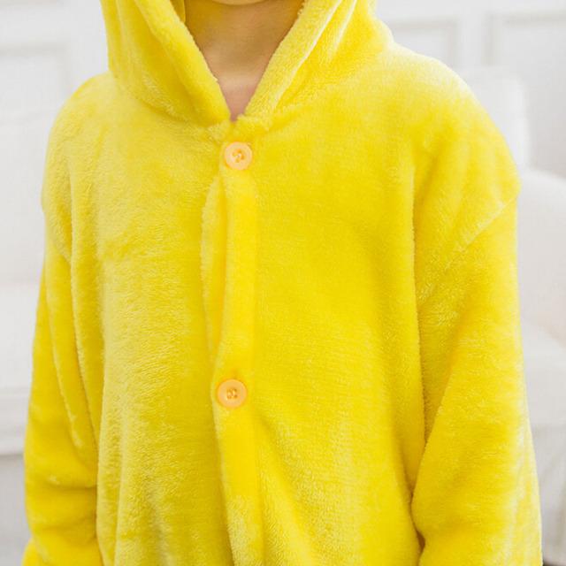 Pikachu Onesie Pajama Animal Catton Children Kids Boy Girl Lovely Jumpsuit Flannel Soft Sleepwear Christmas Gift Pokemon Clothes