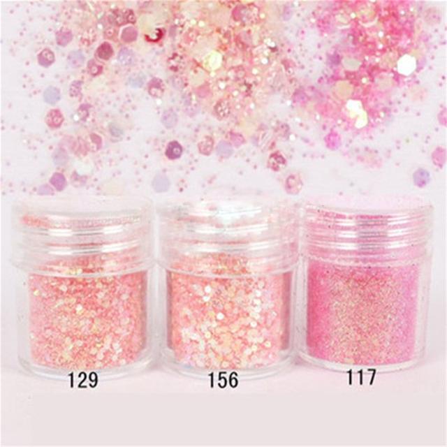 Nail Art Glitter 4boxes/Set (10ml/Box)