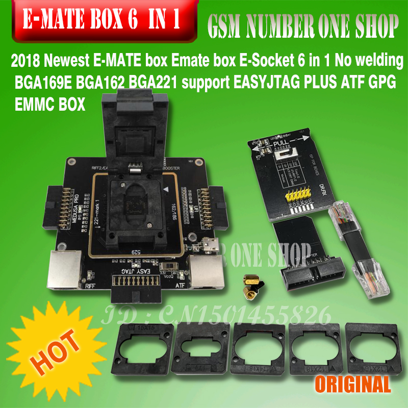 Origina New E-mate Box Emate Box E-Socket Pro EMMC TOOL All In 1 Support BGA153/169, BGA162/186,BGA529, BGA -221