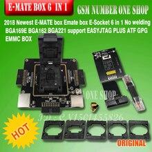 Origina nieuwe E mate box Emate doos E Socket pro EMMC TOOL all in 1 ondersteuning BGA153/ 169, BGA162/186, BGA529, BGA 221