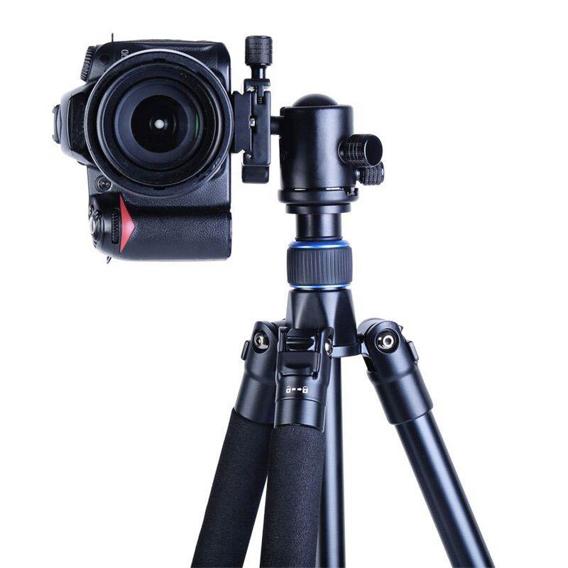 Manbily AZ300 Professional Tripod For DSLR Camera Compact Travel Tripod Monopod With Ball Head SLR Camera Stand Better than Q999 manbily cz 305 professional carbon fiber tripod for camera can changed monopod ball head 3 colors are optional free ship by dhl
