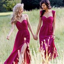 2017 Removable Strap Sleeveless Elegant Chiffon Bridesmaid Dress Formal Party Gown For Bridesmaid Vestido De Dadrinha E5067