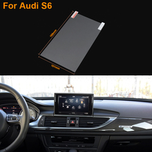 Car Styling 8 Inch GPS Navigation Screen Steel Protective Film For Audi S6 Control of LCD Screen Car Sticker