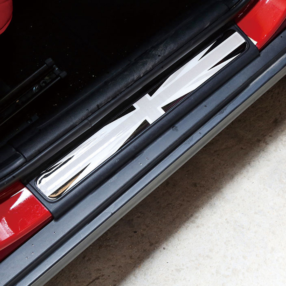 1 Set Car Door Sill Welcome Plate Pedal Decals Footboard Stickers For MINI Cooper F54 Clubman F55 F56 F57 F60 Countryman Styling