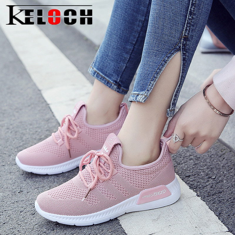 Keloch New Arrival Breathable Flat Shoes Woman Summer Ladies Casual Shoes Lightweight Pink Soft Sneakers Women Zapatos Mujer women s shoes 2017 summer new fashion footwear women s air network flat shoes breathable comfortable casual shoes jdt103