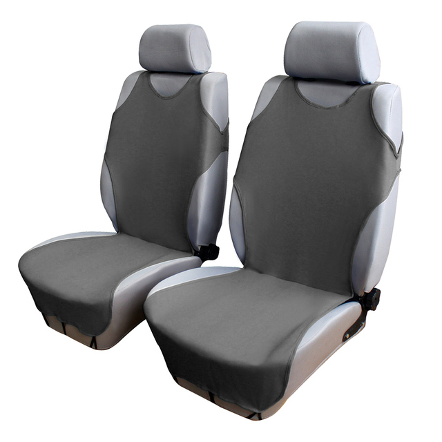 AutoCare Front Car Seat Covers T Shirt Design 2pcs Universal Fit European Automotive Protector 3