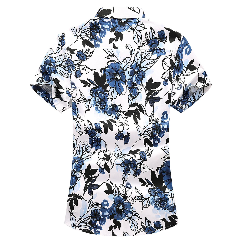 Floral Blouse Men Hawaiian Mens Shirts Flower Beach Camisa masculina Summer Casual Shirt Man Cotton Short sleeve in Casual Shirts from Men 39 s Clothing