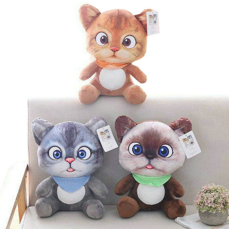 movie action figure Three Diablos Puss Cat plush toy stuffed Cushion Cat animal birthday christmas gift Pillow toys for children 12pcs set children kids toys gift mini figures toys little pet animal cat dog lps action figures