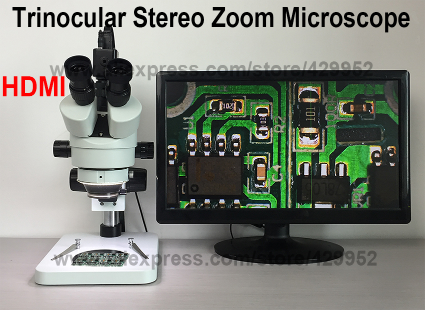 efix 2MP HDMI Camera Trinocular Stereo Continues Zoom 7-45X Microscope for Fix Repair iPhone PCB Logic Board Tools Kits Set lucky zoom 3 5x 45x double boon stand stereo zoom trinocular microscope szm0 5x wd165mm free shipping