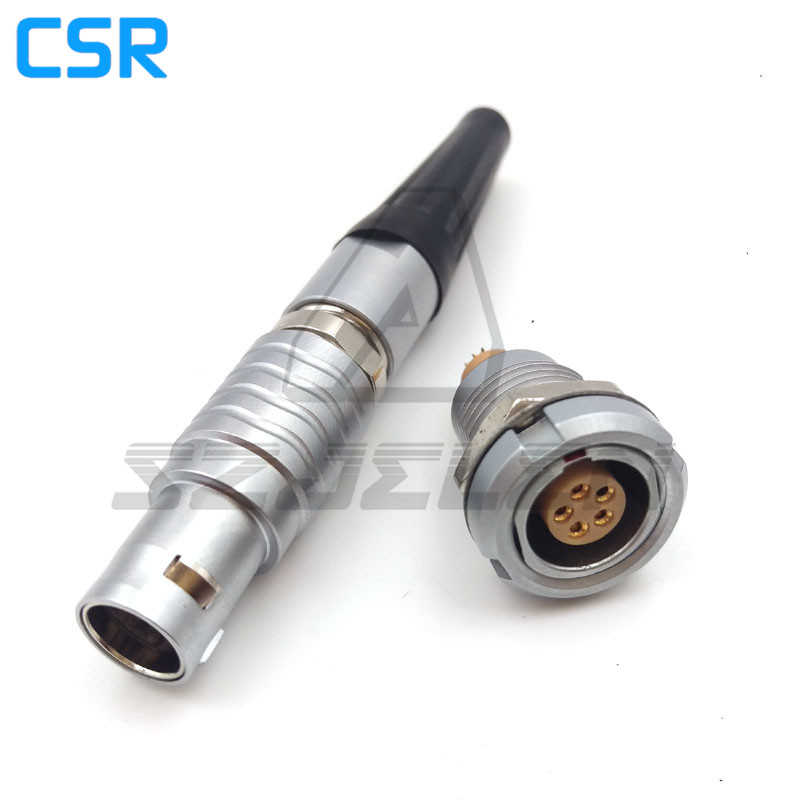 Compatible LEMO 0Bseries connector 5pin plug and socket,, FGG.0B.305.CLAD/ECG.0B.305.CLL, Automotive connectors 5 pin lemo 0b 2 pin power adapter cable for teradek bond lemo fgg 0b 2 pin plug to fhg 0b 2 pin plug cable length 50cm