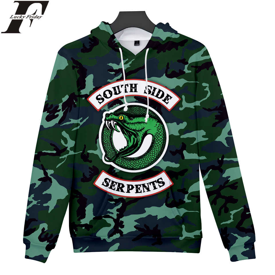 2018 RIVERDALE Hoodies Men/Women South Side Snake Hoodies 3D Print Women/Men Sweatshirts Casual Clothes Plus Size 4XL