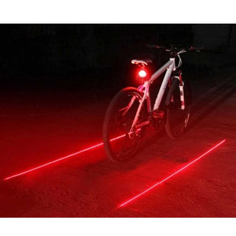 Kolarstwo światło tylne led część ostrzeżenie o bezpieczeństwie Laser noc rower górski Luces Bicicleta rower tylna lampa Bycicle bisiklet akcesoria