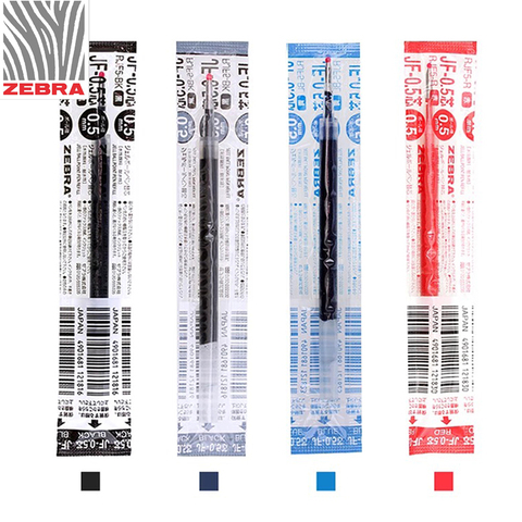 12 pcs lote zebra jf 0 5 0 5 milimetros canetas esferograficas recargas para jj15