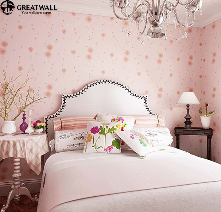 ФОТО Great wall wallpaper floral pink for kids girl bedroom wall paper children wall mural 3 colors papel de parede 3d