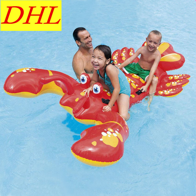 Inflatable Big Lobster Floating Mat Swimming Pool Outdoor WATER PARK Sunbathe Animal Mattress Swim Ring Summer Toy L1948
