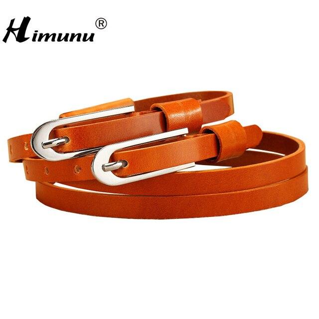 Himunu новинка 100% кожаный пояс для женщин двухместный пряжкой ремни коускин кожи женские ремни женщин люксового бренда ремни