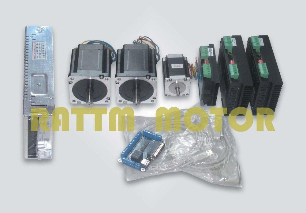 3 axes CNC Kit pour Grande taille Routeur Moulin Plasma ou Laser 878/270 oz-in couple moteur pas à pas/2 pièces de Moteur