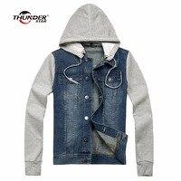 2017 New autumn&winter Denim Jacket Men Hoody Wear Outdoors Casual Jackets Veste homme Jeans Jacket Men Plus Size 4XL 5XL