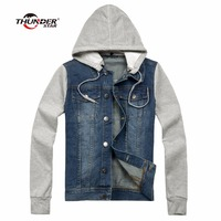New Man Autumn Winter Denim Jacket Men Hoody Sportswear Outdoors Casual Jackets Veste Homme Jeans Jacket