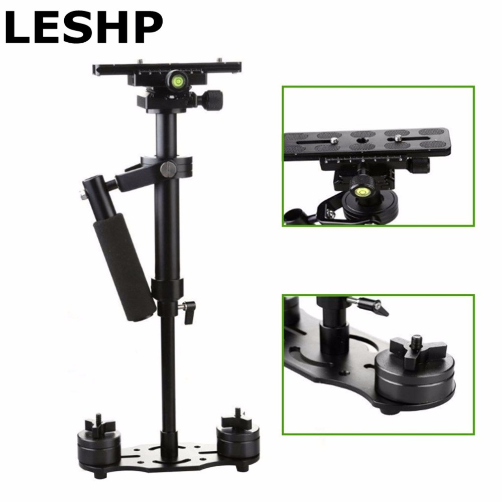 S40 S60 Steadycam Scalable Carbon Fiber Handheld Stabilizer Steadicam for Canon Nikon Sony DSLR Camera Compact Camcorder free shipping s60 gradienter handheld stabilizer steadycam steadicam for camcorder dslr od s