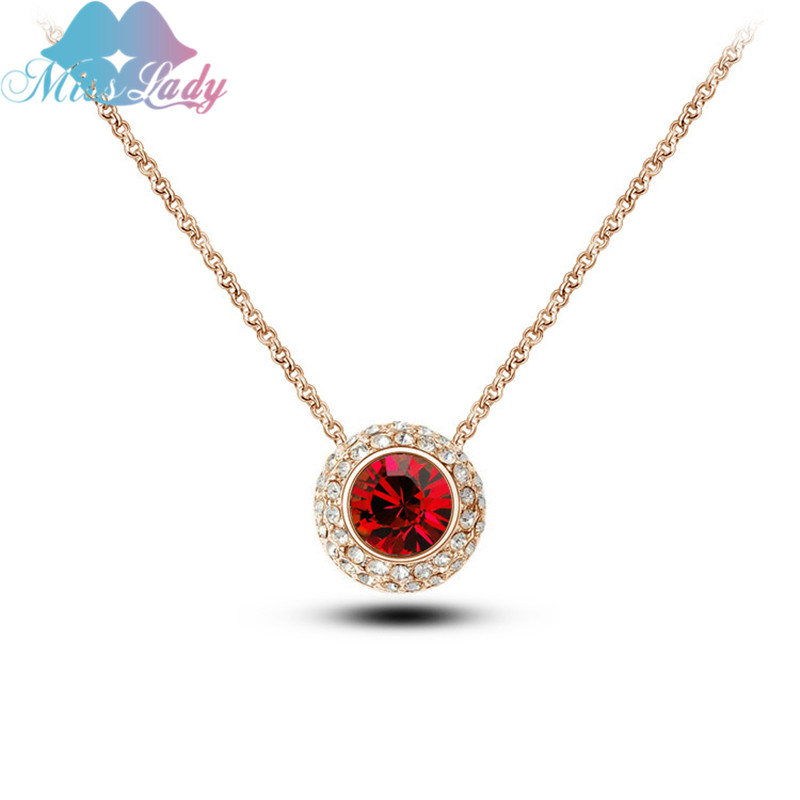 Miss Lady Moon River Necklaces Rhinestone Crystal women wedding necklace & Pendants fashion necklaces for women MLY4841
