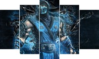 5Piece Anime Posters Wall Decor Oil Modren Painting On Canvas Large Abstract Art Prints Picture Frameless