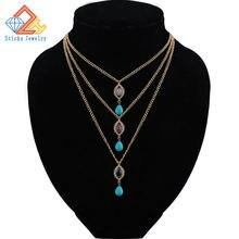 Натуральный камень очаровательные ожерелья и кулоны модные ювелирные
